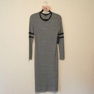 One Clothing Gray Marled Sporty Long Sleeve Dress